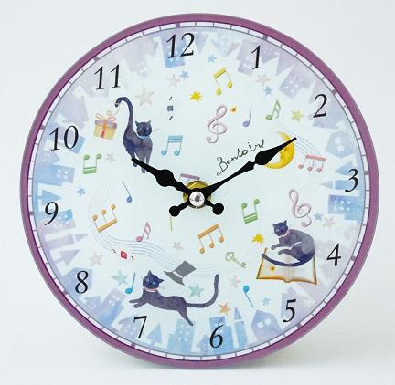マジカルキャット 掛時計 ※お取り寄せ商品 【音楽雑貨 音符・ピアノモチーフ】ト音記号 ピアノ雑貨