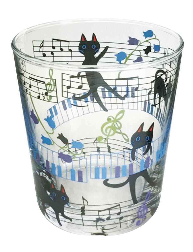 NEKOにゃーご マティーナグラス ※お取り寄せ商品 引き出物 記念品 音楽雑貨 音符 ピアノモチーフ ト音記号 ピアノ雑貨