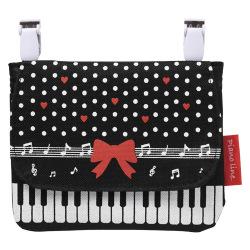 ピアノライン ポケットポーチリボン ※お取り寄せ商品 引き出物 記念品 音楽雑貨 音符 ピアノモチーフ ト音記号 ピアノ雑貨 コンクールドレス