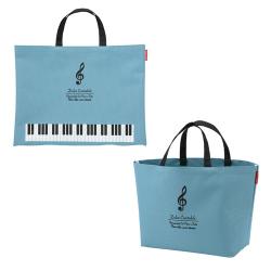 ピアノライン ボタンで2wayトートバッグ ※お取り寄せ商品 引き出物 記念品  【音楽雑貨 音符・ピアノモチーフ】ト音記号 ピアノ雑貨c