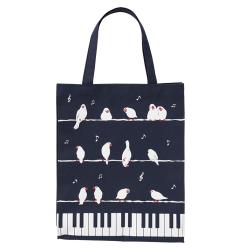 ピアノライン 縦型トートバッグ ことり ※お取り寄せ商品 引き出物 記念品 音楽雑貨 音符 ピアノモチーフ ト音記号 ピアノ雑貨