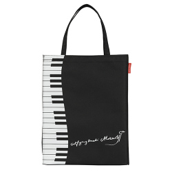 Piano line モーツァルト 縦型トート ※お取り寄せ商品 引き出物 記念品 音楽雑貨 音符 ピアノモチーフ ト音記号 ピアノ雑貨
