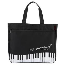 Piano line モーツァルト ポケット付きトート ※お取り寄せ商品 引き出物 記念品 音楽雑貨 音符 ピアノモチーフ ト音記号 ピアノ雑貨