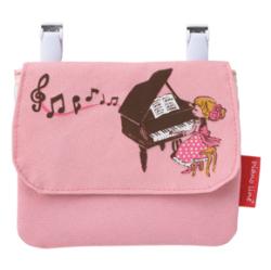 Piano line + ポケットポーチ ※お取り寄せ商品 引き出物 記念品 音楽雑貨 音符 ピアノモチーフ ト音記号 ピアノ雑貨