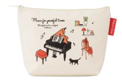 Piano line 舟形ポーチ アラモード ※お取り寄せ商品 引き出物 記念品 音楽雑貨 音符 ピアノモチーフ ト音記号 ピアノ雑貨
