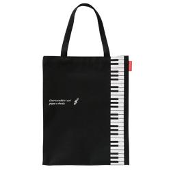 Piano line 縦型トート ※お取り寄せ商品 引き出物 記念品 音楽雑貨 音符 ピアノモチーフ ト音記号 ピアノ雑貨