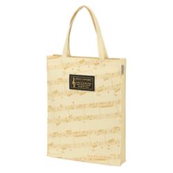 グラーヴェ 縦型トート(楽譜) ※お取り寄せ商品 引き出物 記念品 音楽雑貨 音符 ピアノモチーフ ト音記号 ピアノ雑貨
