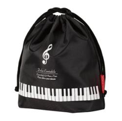 巾着袋 ※お取り寄せ商品 引き出物 記念品 音楽雑貨 音符 ピアノモチーフ ト音記号 ピアノ雑貨