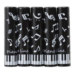 Piano line 鉛筆キャップ 5本入り ※お取り寄せ商品 【音楽雑貨 音符・ピアノモチーフ】ト音記号 ピアノ雑貨c
