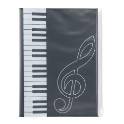 ピアノライン ポケット付きカバーノート(鍵盤) ※お取り寄せ商品 引き出物 記念品  【音楽雑貨 音符・ピアノモチーフ】ト音記号 ピアノ雑貨c