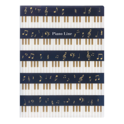 Piano line クリアブック リズム ※お取り寄せ商品 引き出物 記念品 音楽雑貨 音符 ピアノモチーフ ト音記号 ピアノ雑貨