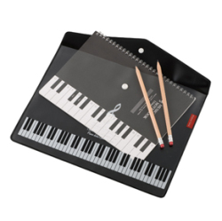 Piano line マチ付き楽譜ケースA4(ト音記号) ※お取り寄せ商品 引き出物 記念品 音楽雑貨 音符 ピアノモチーフ ト音記号 ピアノ雑貨