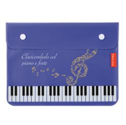 Piano line フラットポーチ ※お取り寄せ商品 引き出物 記念品 音楽雑貨 音符 ピアノモチーフ ト音記号 ピアノ雑貨
