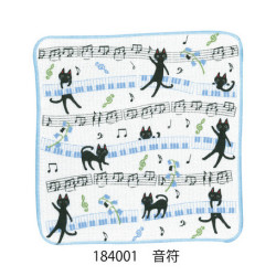 NEKOにゃ〜ご ディッシュクロス ※お取り寄せ商品 【音楽雑貨 音符・ピアノモチーフ】ト音記号 ピアノ雑貨