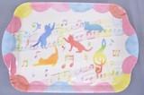 ファンシーアートトレー ※お取り寄せ商品 引き出物 記念品 音楽雑貨 音符 ピアノモチーフ ト音記号 ピアノ雑貨