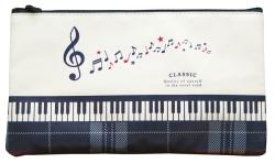 ペンポーチ CLASSIC  ※お取り寄せ商品 引き出物 記念品 音楽雑貨 音符 ピアノモチーフ ト音記号 ピアノ雑貨