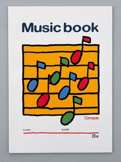 音楽帳 8段 ※お取り寄せ商品 引き出物 記念品 音楽雑貨 音符 ピアノモチーフ ト音記号 ピアノ雑貨