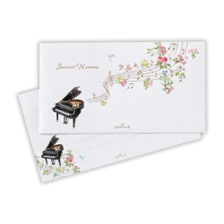 一筆箋 ※お取り寄せ商品 引き出物 記念品 音楽雑貨 音符 ピアノモチーフ ト音記号 ピアノ雑貨