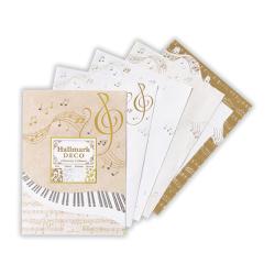 レターパッド ※お取り寄せ商品 引き出物 記念品 音楽雑貨 音符 ピアノモチーフ ト音記号 ピアノ雑貨