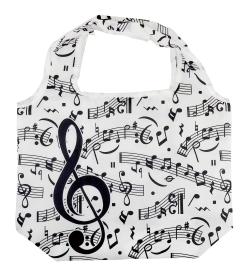 エコバッグ ※お取り寄せ商品 引き出物 記念品 音楽雑貨 音符 ピアノモチーフ ト音記号 ピアノ雑貨