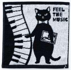 今治タオルハンカチ ※お取り寄せ商品 引き出物 記念品 音楽雑貨 音符 ピアノモチーフ ト音記号 ピアノ雑貨