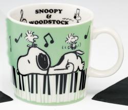 S/N マグカップ ※お取り寄せ商品 引き出物 記念品 音楽雑貨 音符 ピアノモチーフ ト音記号 ピアノ雑貨