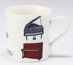 マグカップ ☆※お取り寄せ商品 【音楽雑貨 音符・ピアノモチーフ】ト音記号 ピアノ雑貨