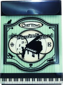 A4ファイルケース chatnoir ※お取り寄せ商品 引き出物 記念品 音楽雑貨 音符 ピアノモチーフ ト音記号 ピアノ雑貨