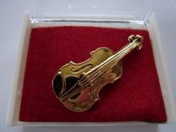 バイオリンブローチ♪この商品はお取り寄せ商品です♪【記念品に最適ブローチ】吹奏楽部 ブラスバンド 記念品に