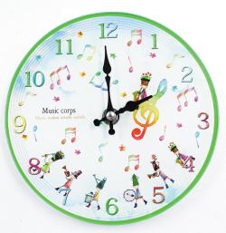 掛置時計 ※お取り寄せ商品 引き出物 記念品 音楽雑貨 音符 ピアノモチーフ ト音記号 ピアノ雑貨