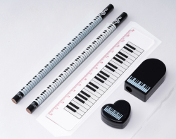 ステーショナリーセット ※お取り寄せ商品 引き出物 記念品 音楽雑貨 音符 ピアノモチーフ ト音記号 ピアノ雑貨