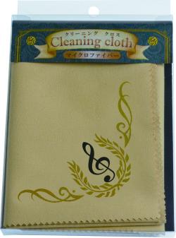 クリーニングクロス Cle de sol ※お取り寄せ商品 引き出物 記念品 音楽雑貨 音符 ピアノモチーフ ト音記号 ピアノ雑貨