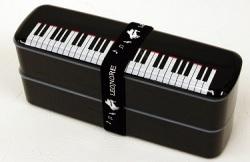 ランチボックス※お取り寄せ商品 【音楽雑貨 音符・ピアノモチーフ】ト音記号 ピアノ雑貨