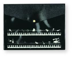 Music landscape A4フラットケース(マチ無)※お取り寄せ商品 引き出物 記念品 音楽雑貨 音符 ピアノモチーフ ト音記号 ピアノ雑貨