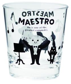 MAESTRO タンブラー ※お取り寄せ商品 引き出物 記念品 音楽雑貨 音符 ピアノモチーフ ト音記号 ピアノ雑貨
