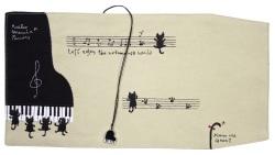 帆布 ブックカバー ※お取り寄せ商品 【音楽雑貨 音符・ピアノモチーフ】ト音記号 ピアノ雑貨c