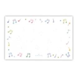 ミニメッセージカード ※お取り寄せ商品 【音楽雑貨 音符・ピアノモチーフ】ト音記号 ピアノ雑貨c
