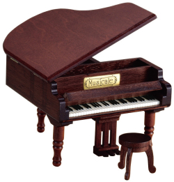 木製オルゴール ※お取り寄せ商品 引き出物 記念品 音楽雑貨 音符 ピアノモチーフ ト音記号 ピアノ雑貨