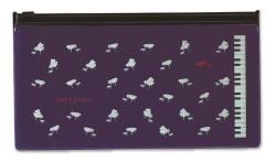 PP PVC ペンケース ※お取り寄せ商品 【音楽雑貨 音符・ピアノモチーフ】ト音記号 ピアノ雑貨c