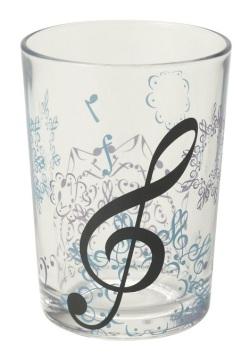 ガラスタンブラー ※お取り寄せ商品 【音楽雑貨 音符・ピアノモチーフ】ト音記号 ピアノ雑貨