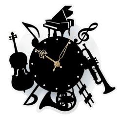 壁掛時計 ※お取り寄せ商品 【音楽雑貨 音符・ピアノモチーフ】ト音記号 ピアノ雑貨c