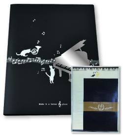 レター&リングファイルセット ※お取り寄せ商品 引き出物 記念品 音楽雑貨 音符 ピアノモチーフ ト音記号 ピアノ雑貨