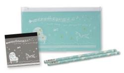 PVC ペンケースセット ※お取り寄せ商品 【音楽雑貨 音符・ピアノモチーフ】ト音記号 ピアノ雑貨c
