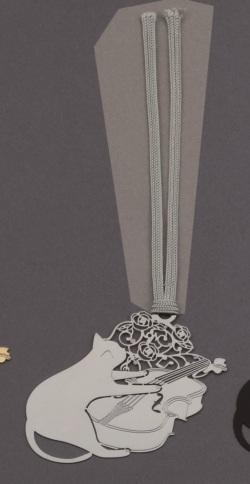 キャットブックマーク シルバーバイオリン ※お取り寄せ商品 【音楽雑貨 音符・ピアノモチーフ】