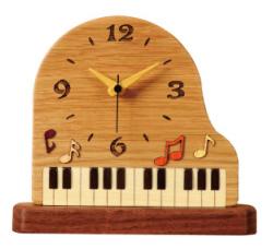 グランドピアノ 置時計※お取り寄せ商品 【音楽雑貨 音符・ピアノモチーフ】