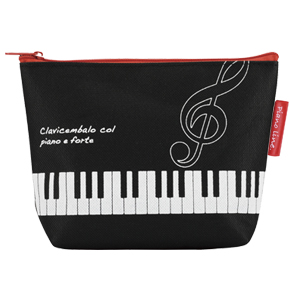 Piano line 舟形ポーチ ト音記号 ※お取り寄せ商品 引き出物 記念品 音楽雑貨 音符 ピアノモチーフ ト音記号 ピアノ雑貨