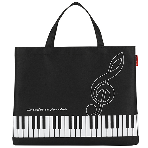 Piano line レッスンバッグ ト音記号 ※お取り寄せ商品 引き出物 記念品 音楽雑貨 音符 ピアノモチーフ ト音記号 ピアノ雑貨