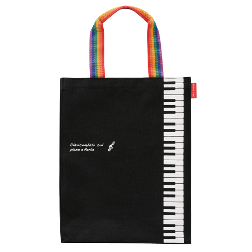 Piano line 縦型トート ※お取り寄せ商品 引き出物 記念品 音楽雑貨 音符 ピアノモチーフ ト音記号 ピアノ雑貨