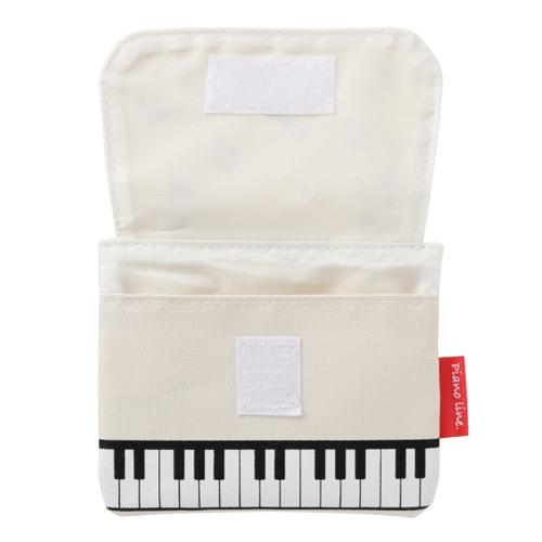 Piano line ポケットポーチ(マーチ) ※お取り寄せ商品 引き出物 記念品 音楽雑貨 音符 ピアノモチーフ ト音記号 ピアノ雑貨