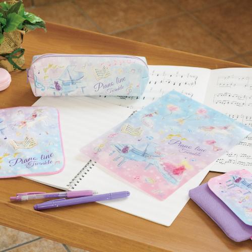 Piano line ペンケース(トゥインクル) ※お取り寄せ商品 引き出物 記念品 音楽雑貨 音符 ピアノモチーフ ト音記号 ピアノ雑貨